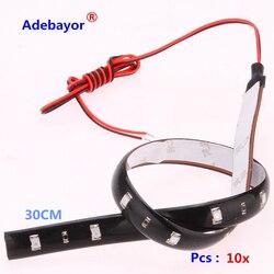 HOTSALE 10 teile/los 30 cm 15 SMD 3528 Weiß/Rot/Blau Gelb Grün Farbe Wasserdichte Flexible LED Streifen 30 cm Länge Auto Streifen