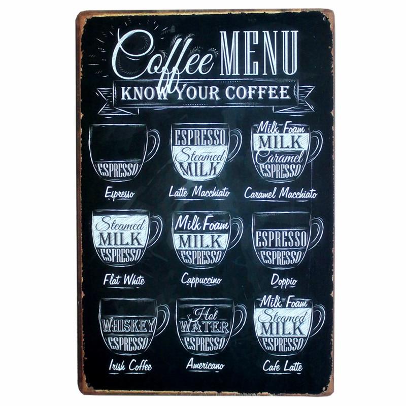Καφέ Μενού για Cafe Bar Pub Διακόσμηση - Διακόσμηση σπιτιού - Φωτογραφία 2
