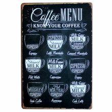 Cafe Bar Pub Wall Decor Vintage Home Decor Metal Plaque Retro