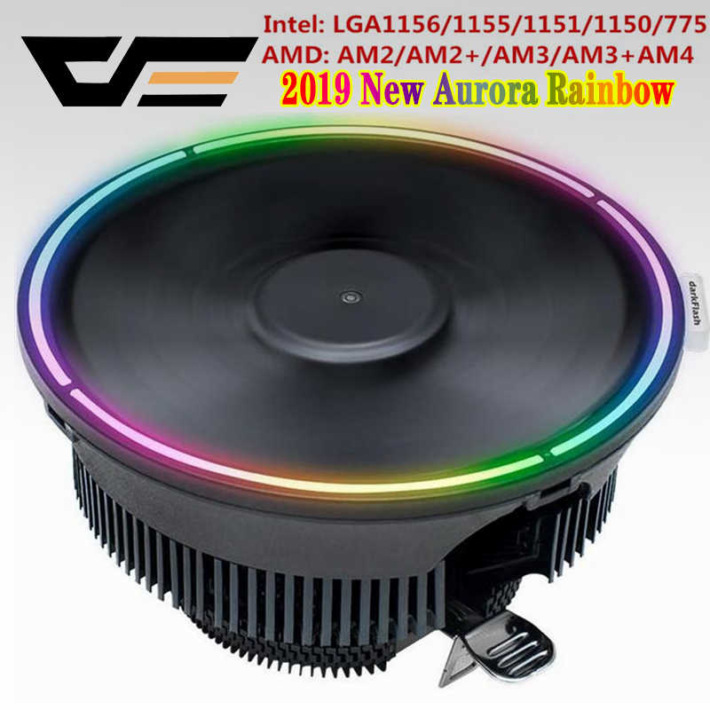 Darkflash Aigo CPU Kühler Kühler Led Kühlkörper AMD Intel Stille 3Pin PC CPU Kühlung Kühler Kühlkörper Fan LGA/ 115X/775/AM3/AM4