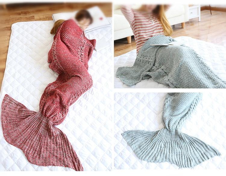 Aliexpress.com : Buy wool knitted Mermaid Tail blanket Handmade mermaid tail ...