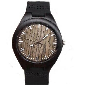 YUELANSHI bois montre-bracelet Design minimaliste Original en bois bambou montre mâle en bois horloge hommes femmes cadeau d'anniversaire