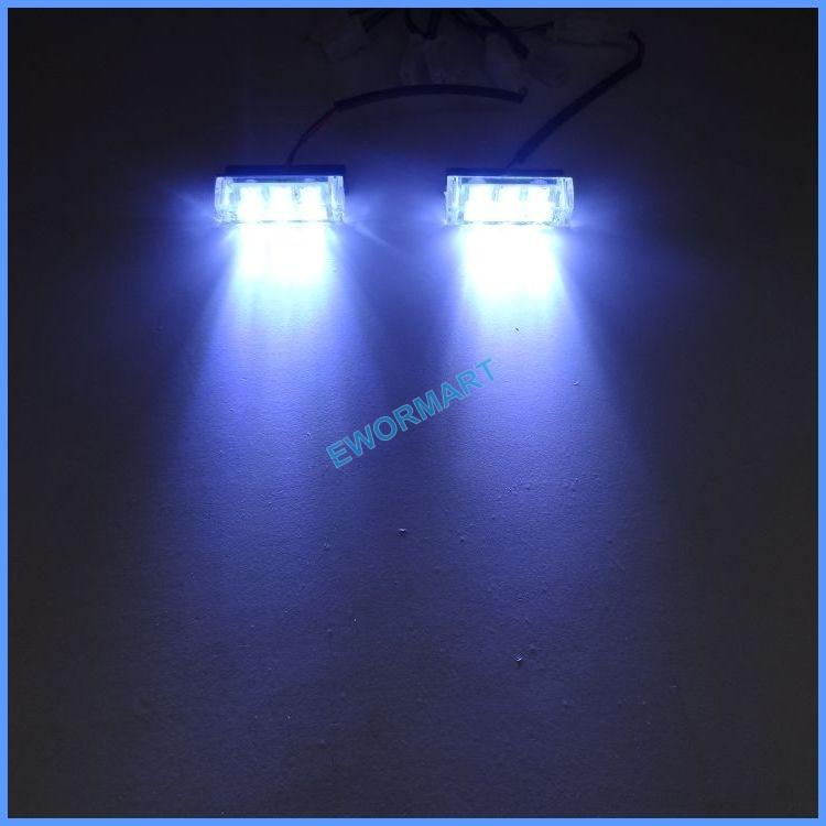 2*3 White LED Multi Colors Strobe Light Led Green Flash