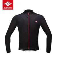 Santic Winter Cycling Jacket Men Windproof Warm Thermal Fleece Chaqueta Ciclismo Invierno Hombre Bicycle Bike Clothing