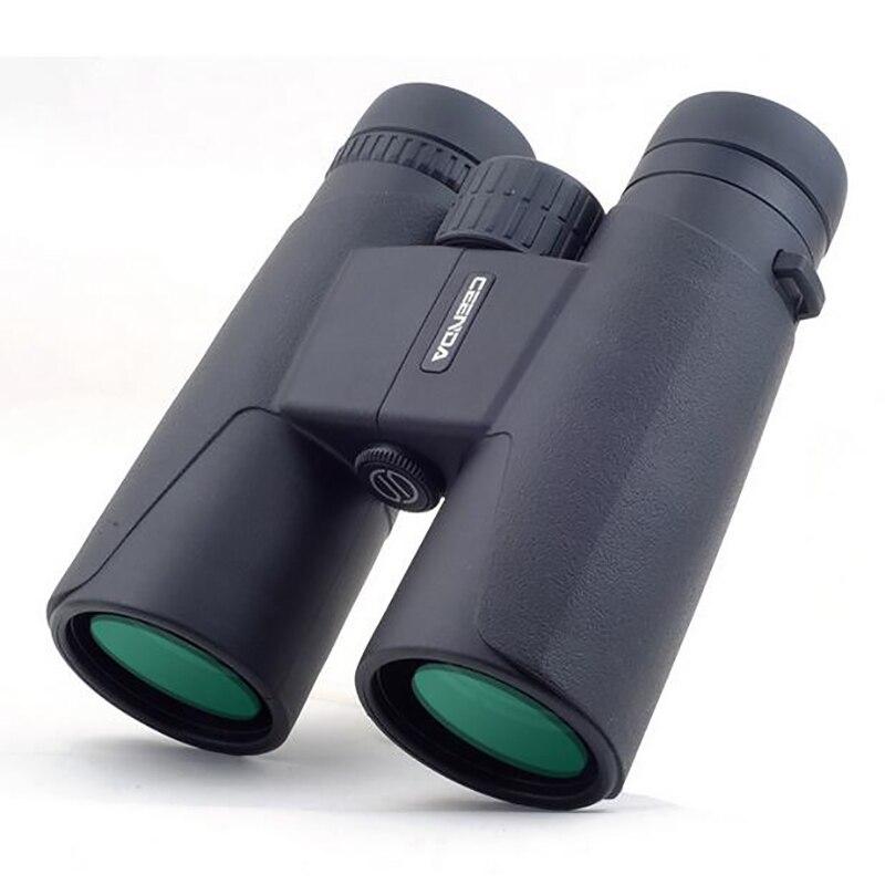 12 x 42 Binoculars Telescope Zoom Optic Lens HD Spotting Scope Binoculars Coating Lenses Day Vision Space Hunting FMC Green Бинокль