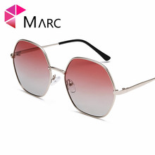 MARC New Women Sunglasses Vintage Wrapped Unregular frame Eyeglasses Gradient Lens Oculos fashion Metal Eyewear Shades UV400 1