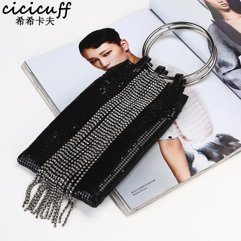88b57b8dfb CICICUFF Tassel sequin Evening Bag Women Diamond Fashion Party Bags Clutch  Metal Wristlet Party Bag ...