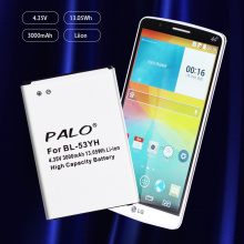 PALO 2019 New Original LG BL-53YH Battery for LG Optimus G3 D830 D850 D851 D855 LS990 VS985 F400 LG G3 replacement 3 8v 7000mah li ion battery back case for lg g3 bl 53yh d855 vs985 white