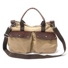Fashion Großer Kapazität Leinwand Reise Hangbags Khaki Casual männer Messenger Bags Frauen Vielseitige Einzelne Schulter Bags