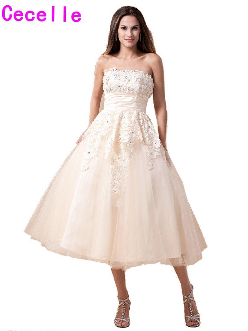 Tolle Tee Länge Hochzeitskleider Galerie - Brautkleider Ideen ...