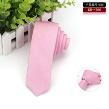 This Pink Linen Tie Would Compliment Your Suits or Blazers and Will Stand Out with It's Solid Finish(China)