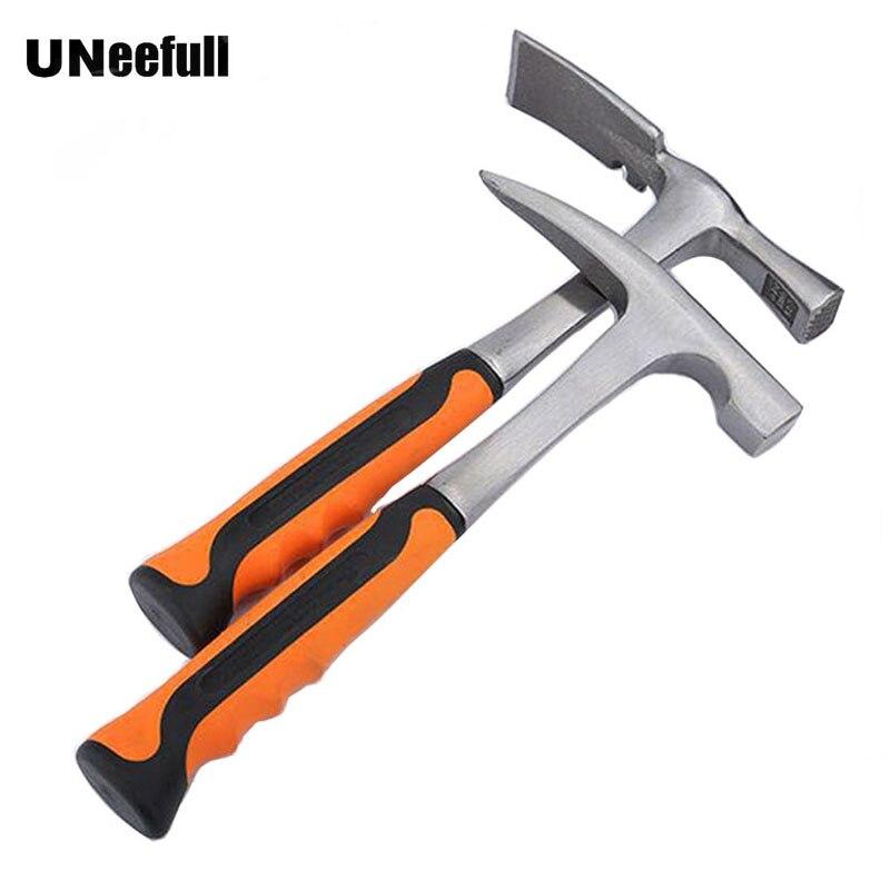 UNeefull punto martillo geológico, profesional estudio martillo, Mini Mason martillo herramientas de mano seguridad coche de emergencia martillo