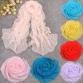 2016 Корейский стиль шарф для женщин розовый колеса платок зима и осень длинный шелковый шифон и женщина все-матч кашемир
