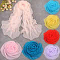 2016 Korean style scarf for women pink wheel shawl winter and autumn long silk chiffon and female all-match cashmere