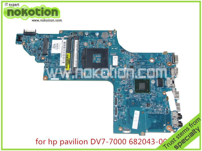 Brand  682043-001 48.4ST04.011 Laptop motherboard For hp pavilion M7-1000 DV7-7000 Intel HD 4000 graphics 17.3 inch Mainboard 45 days warranty for hp dv7 dv7 4000 615686 001 laptop motherboard 5470 512 non integrated graphics card 100% fully tested