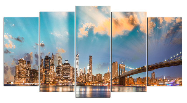 Wall Art Painting aliexpress : buy hd large canvas 5 panels home decor wall art