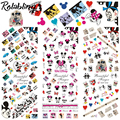 Rolabling Smart Mouse full cover design water decals Nail Sticker DIY Manicure Decoration For nail art cartoon
