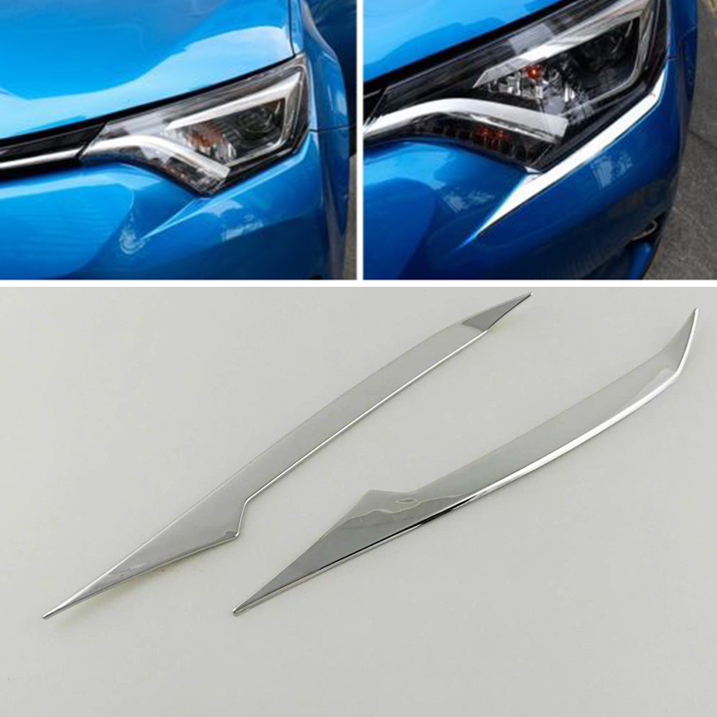 Image 3 - Headlights For Toyota RAV4 2016 18 Trim Replacement Accessories Chrome Exterior-in Chromium Styling from Automobiles & Motorcycles