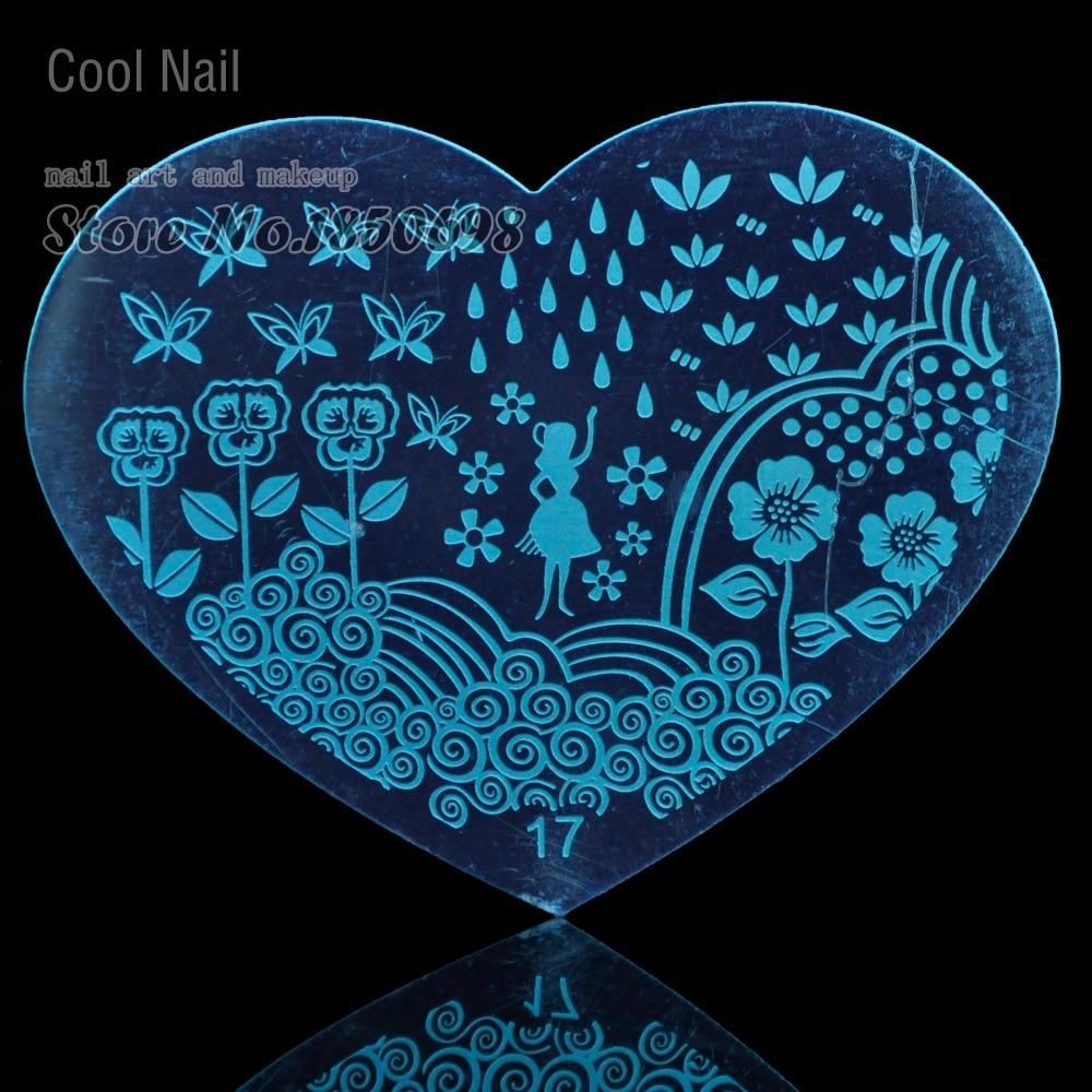 Sweet Heart Edelstahl Nail art Stamping Platten Nail Drucker ...