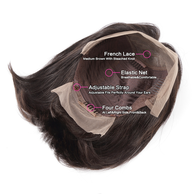 Short Lace Front Human Hair Wigs Brazilian Straight Bob Natural Wig