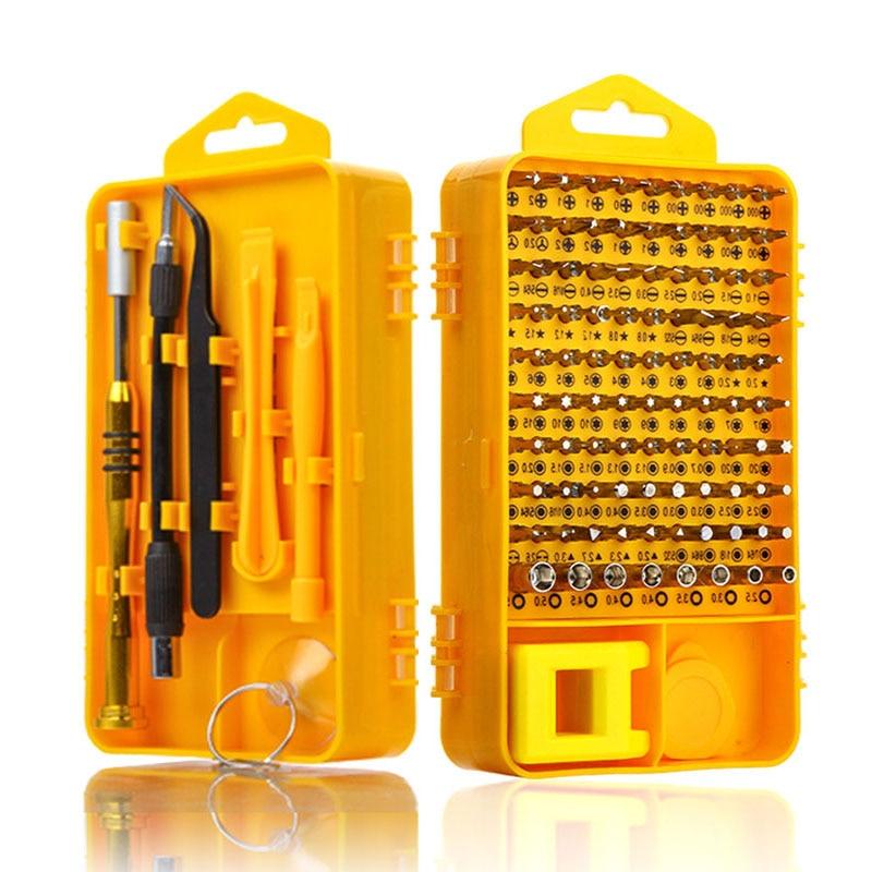 108 in 1 Set di Cacciaviti Multi-funzione di Strumento di Riparazione di Computer Kit di Strumenti Essenziali Digitale Mobile Del Telefono Delle Cellule Tablet PC di riparazione