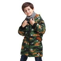 Pydownlake الفتيات الفتيان الشتاء جاكيتات الأطفال الاحترار طويل التمويه معطف القطن غطاء للانفصال سستة سترة أبلى الملابس