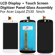 LCD Display + Touch Screen Digitizer Panel Glass Lens Sensor Assembly For Acer Liquid Z530 Replacement Repair Part FreeShipping