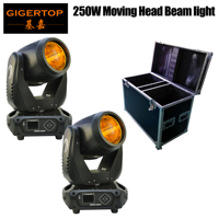 2IN1 Flightcase Packing 250W High Power Sharpy Beam Moving Head Light DMX512/Sound/Auto Control LED Display Power Con