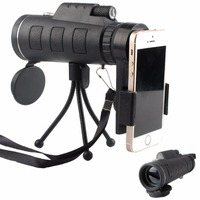 40x60 HD Zoom Optical High Power Magnification Monocular Scope Telescope With Phone Holder And Tripod For