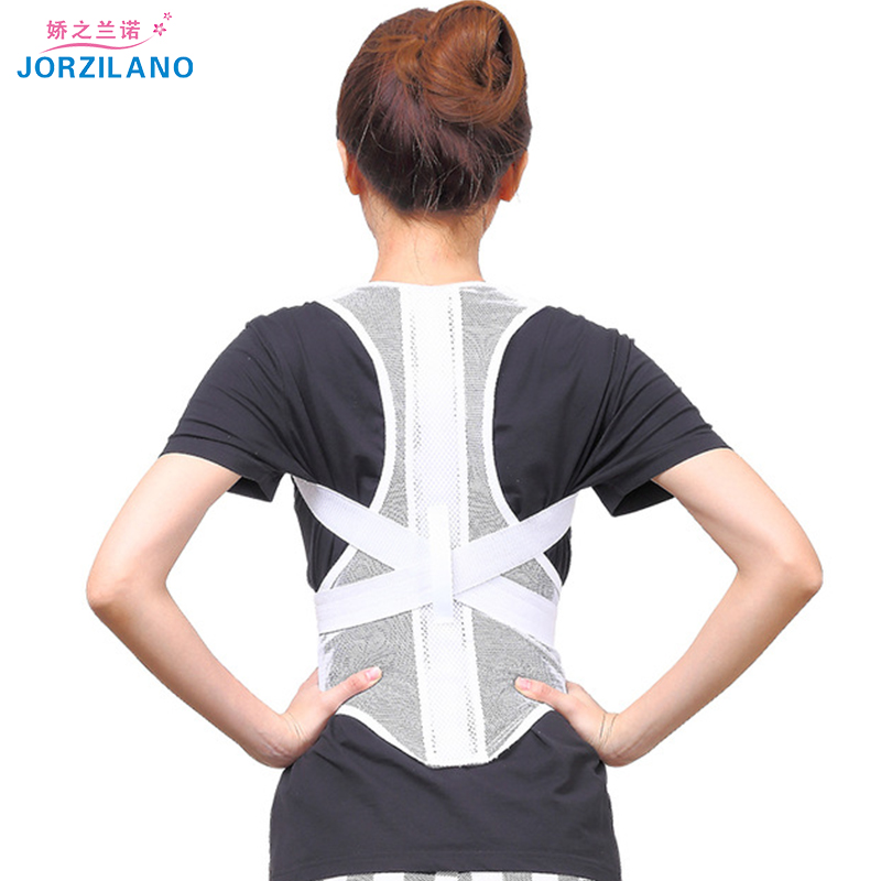 Jorzilano Free shipping Women Adjustable Therapy Back Support Braces Belt Band Posture Shoulder Corrector for Fashion Health men women adjustable posture corrector belt braces support body back corrector shoulder health care 611