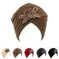 De las mujeres Gorro de Punto Diadema Headwrap Ganchillo con cuentas Joya de la flor Caliente Del Invierno Turbante MAQUILLAJE KH-03