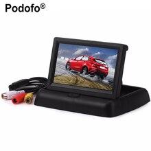 Cheaper Podofo Hot Sale Car Monitors 4.3″ TFT LCD Display Rear View Monitor Screen Digital Panel Color Car Rear View Car Video Player