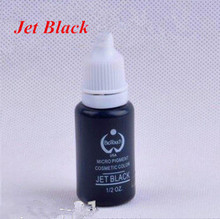 Hot Selling 2piece/lot Jet Black Ink Permanent Makeup Tattoo Ink Pigment For Body Make Up