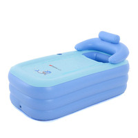 160*84*64cm Big Indoor Outdoor Fold able Inflatable Bath Tub PVC Adult Bathtub Air Pump Household Inflatable Bathtub Furnishing