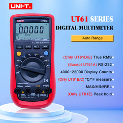 Multímetro Digital UNI-T UT61E rango automático verdadero rms UT61A/B/C/D AC medidor de CC multímetro de retención de datos + voltaje USB y monitor de corriente