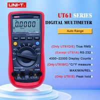 UNI-T UT61E multimètre numérique vraie gamme automatique rms UT61A/B/C/D AC DC compteur données tenir multimètre + USB tension et moniteur de courant