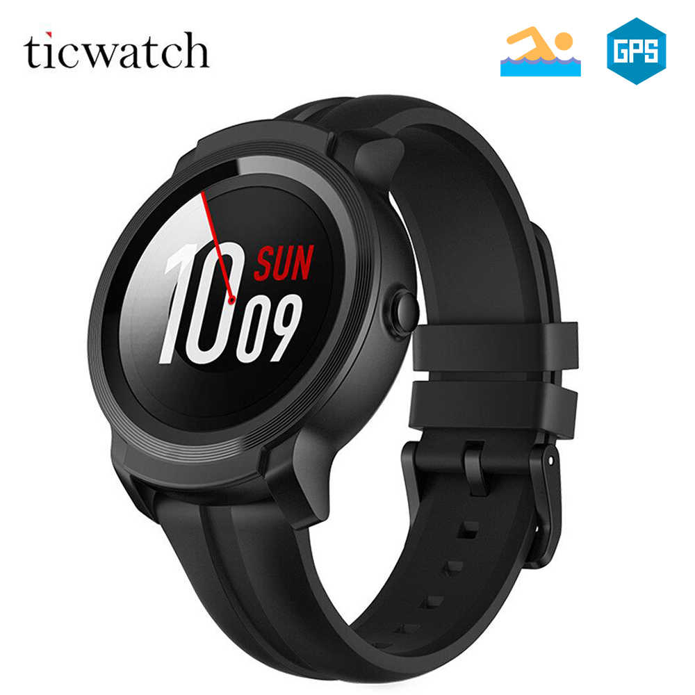 Original Global Ticwatch E2 Wear OS by Google Smart Watch Bluetooth WIFI 5ATM Waterproof Smartwatch Heart rate Health tracker