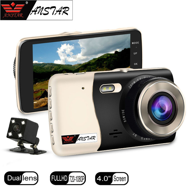 ANSTAR CAR Camera 4 Video Recorder Dual lens Dash Cam Parking Assistance Full HD 1080p Car