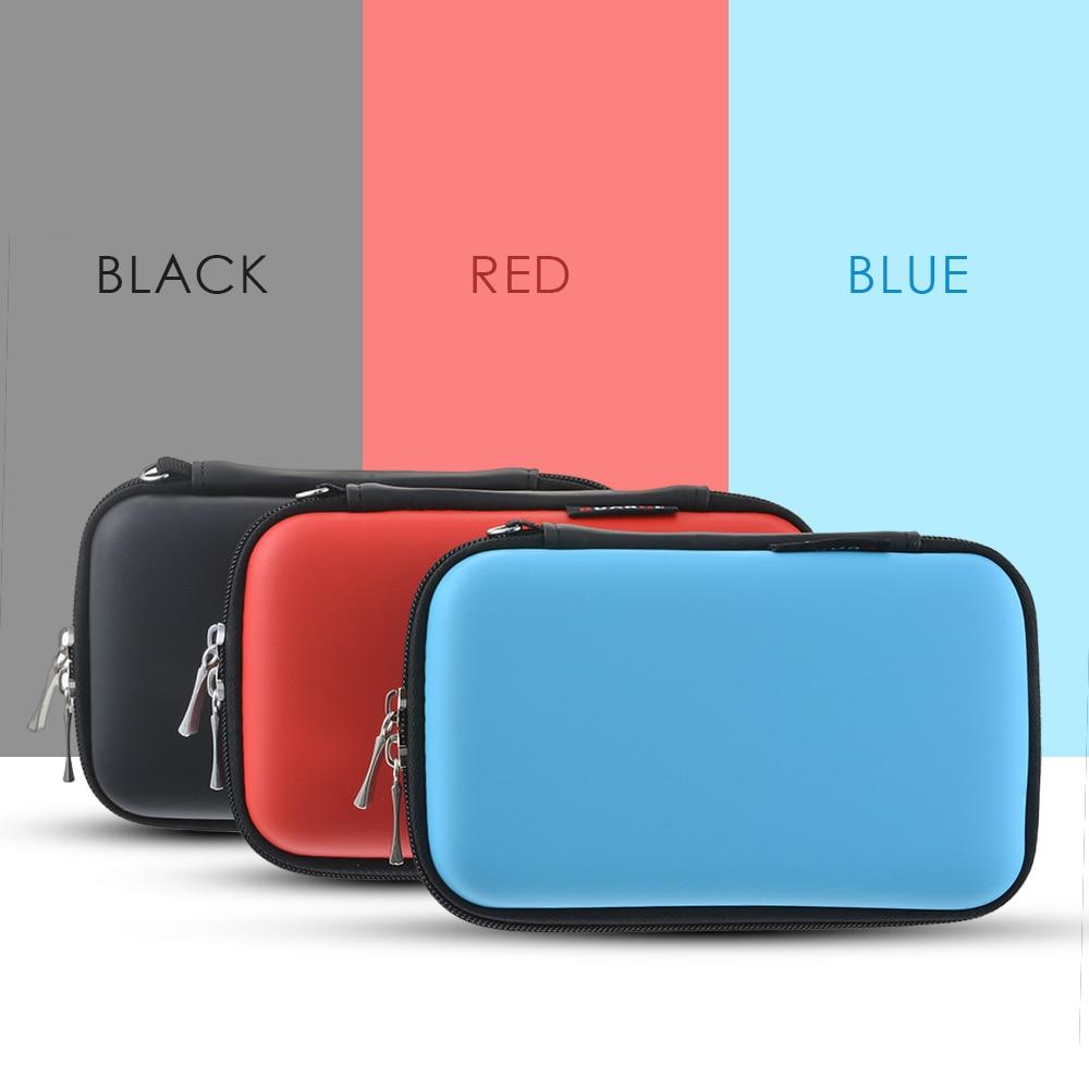 Urijk Storage-Box Earphone-Case Cable-Organizer Hard-Bag Coin-Memory-Card Carrying Zipper