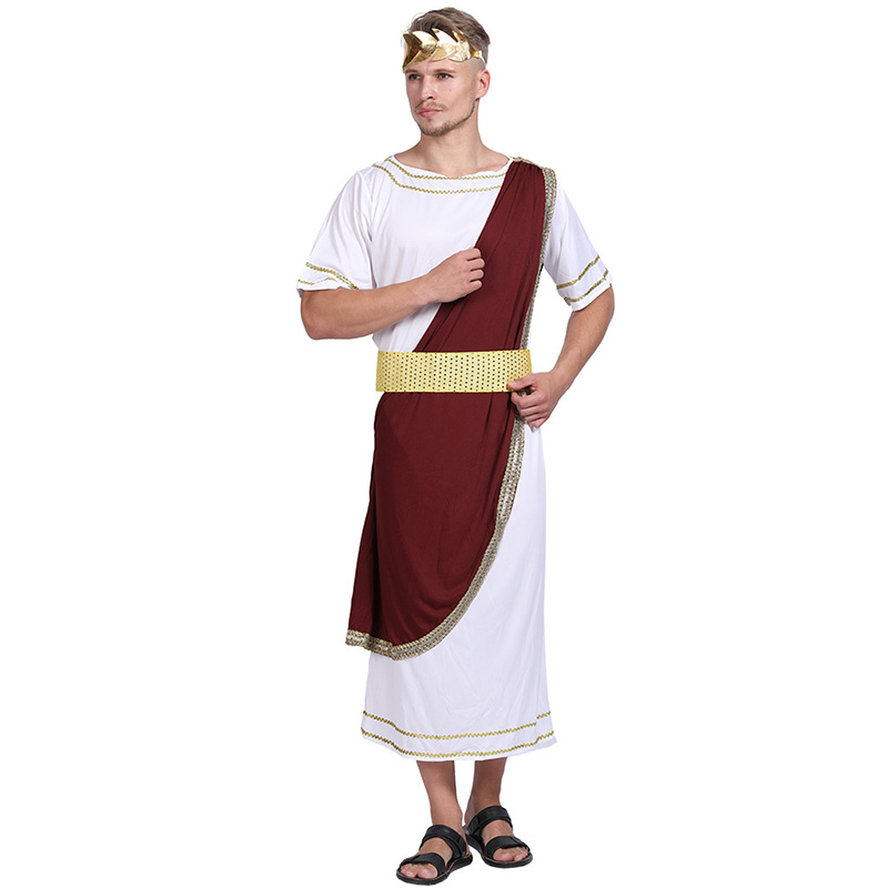 Halloween Adult Emperor Of Rome Caesar Cosplay Men Fantasia Carnival Roman Costume Cosplay Fancy Party Dress Up Suit image