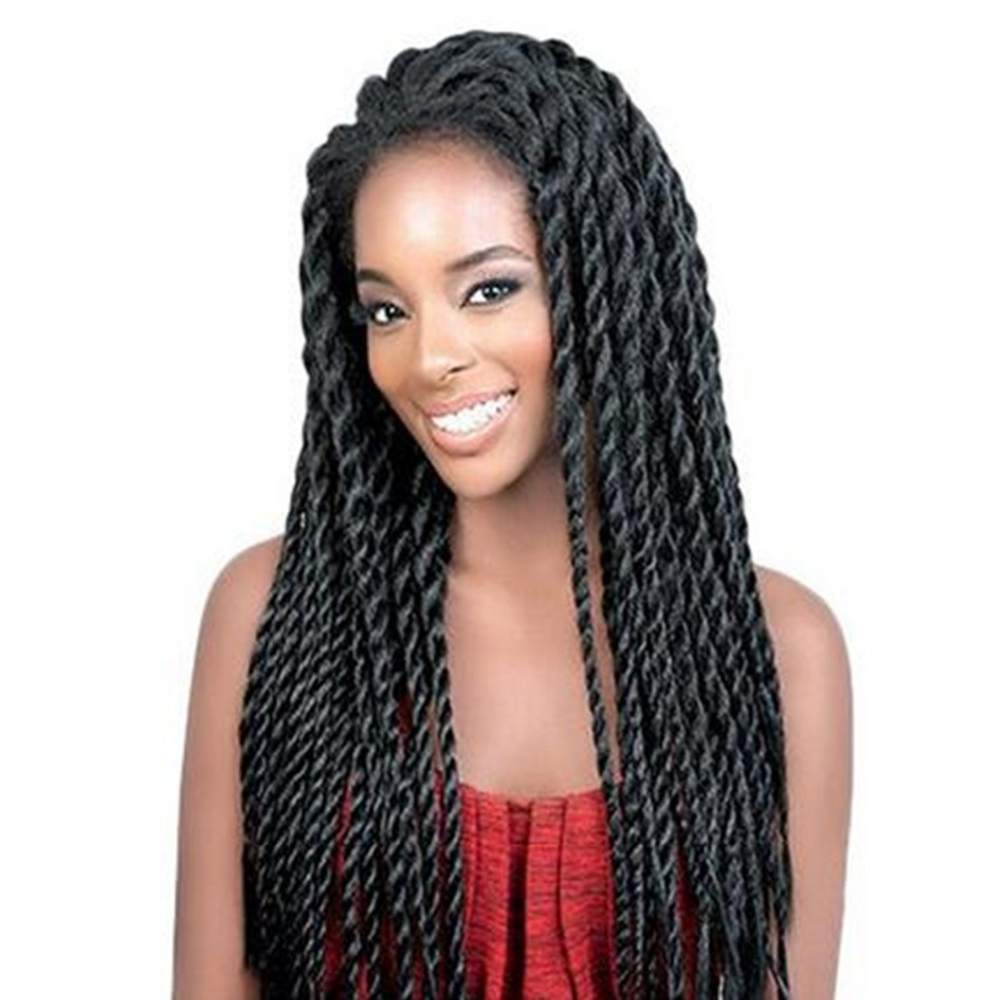 26inch Senegalese Twist hair lace Front Wig Synthetic ...