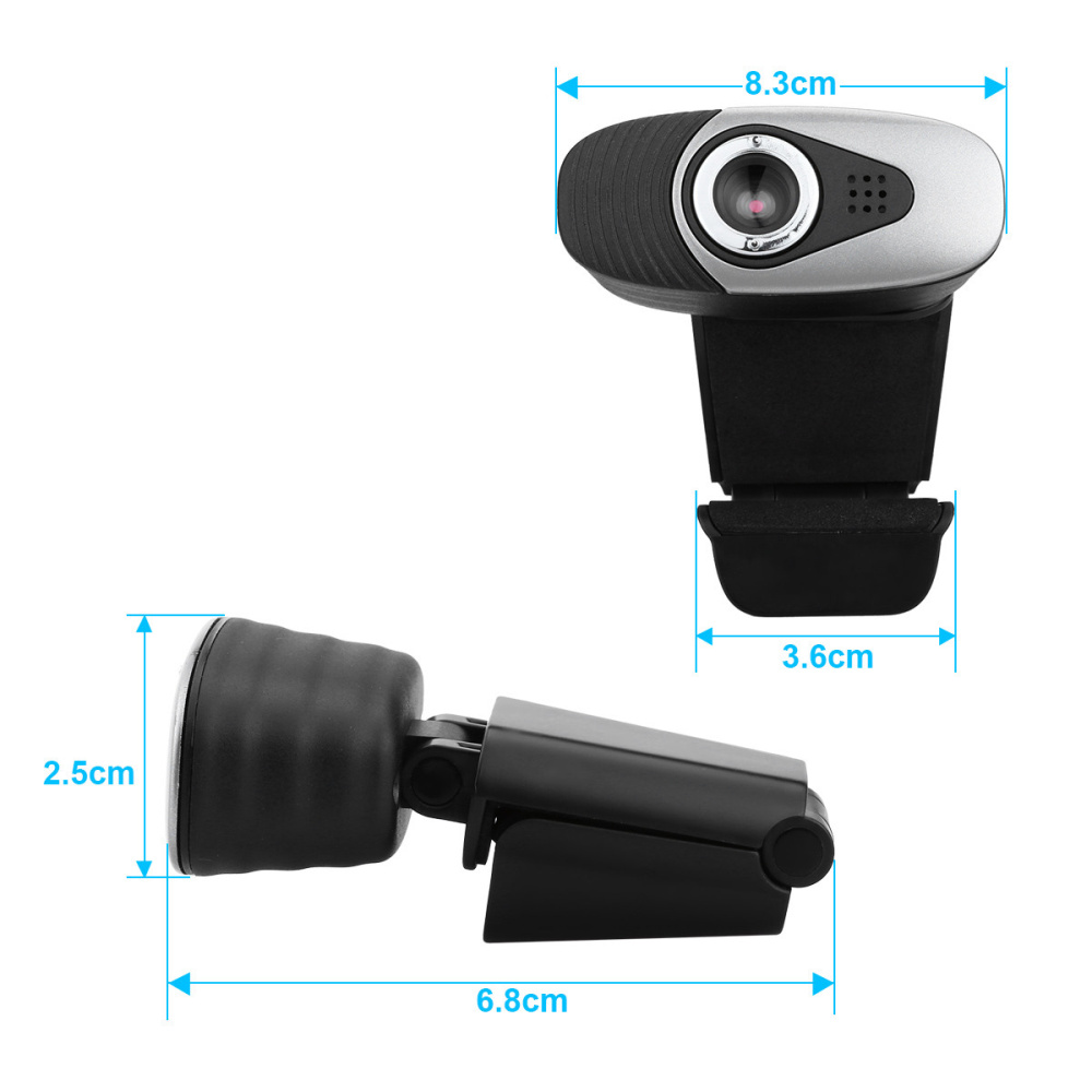 Image 3 - HXSJ USB 2.0 Digital Video Webcamera Webcam Web Camera HD  Pixels With Sound Absorption Mic Microphone For Desktop PC Lap-in Webcams from Computer & Office