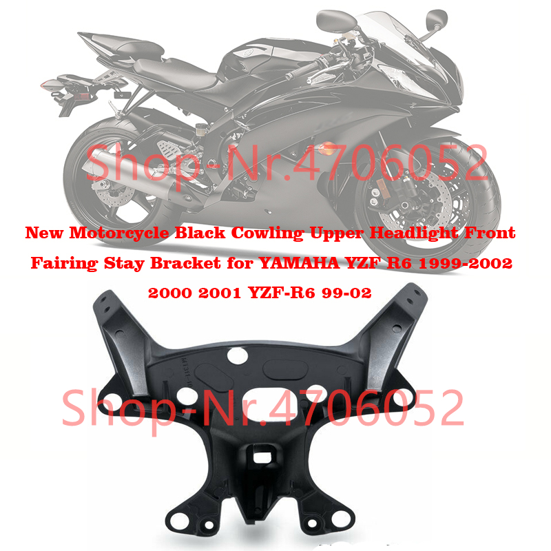 Motorcycle Front Upper Fairing Stay Holder Headlight Bracket Aluminum Cowling Bracket For YAMAHA YZF-R6 YZF R6 1999-2002 R6 1999 R6 99-02 00 01