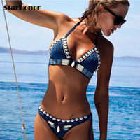 StarHonor New Knitting Bikini Brazilian Biquini Swimsuits Push Up Swimwear Women Sexy Bikinis Set Swim Suit