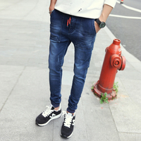 The New Tide Fashion Big Yards Elastic Jeans For Men Han Edition Cultivate One S Morality