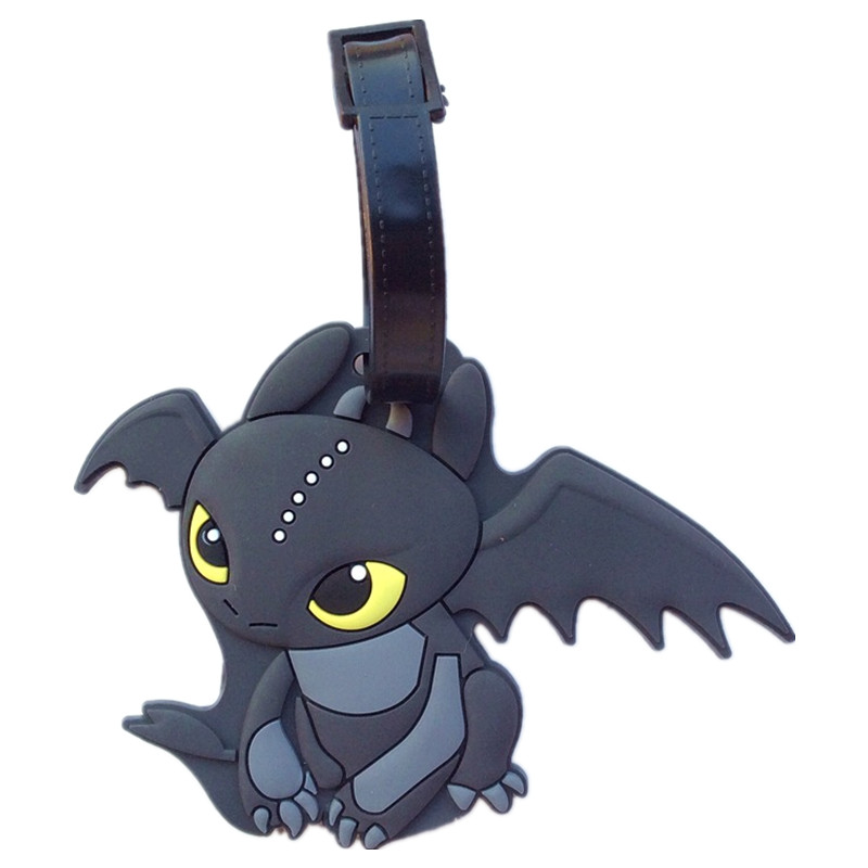 LISM Dragon Anime Luggage Tag Travel Accessories Suitcase ID Address Portable Tags Holder Baggage Labels New