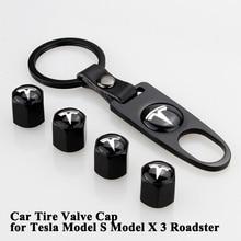 1 компл. цинковый сплав автомобильных шин клапан Кепки крышка Logo Styling рот колеса клапан аксессуары для Тесла модель S X модель родстера 3