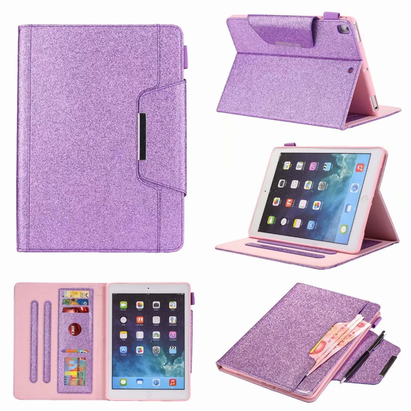 Case for iPad 5(air)/6 (AIR 2) PU Leather Soft glitter PU Leather Back Smart Cover for Apple iPad pro 9.7-2016 /2017/2018 Case стоимость