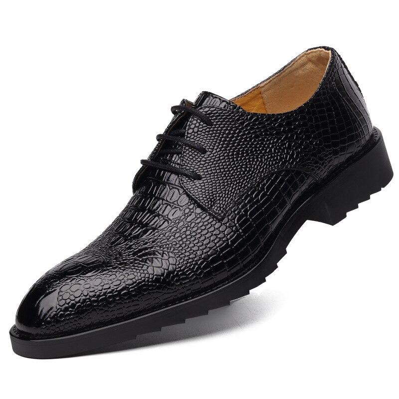 2018 Neue Britischen Crocodile Print Männlich Wies Beiläufige Lederne Schuhe Luxus Marke Fashion Elegante Oxford Schuhe Für Männer Kleid Schuhe Extrem Effizient In Der WäRmeerhaltung