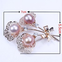 13mm pink near round freshwater pearl brooch for woman gifts